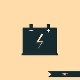 Car battery icon Royalty Free Stock Image