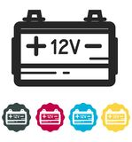 Car Battery Icon - Illustration Royalty Free Stock Photo