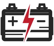 Car Battery Icon - Illustration Royalty Free Stock Photography