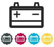 Car Battery Icon - Illustration Stock Images