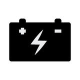 Car battery isolated icon Stock Photography