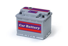 Car battery isolated on white background Royalty Free Stock Photo