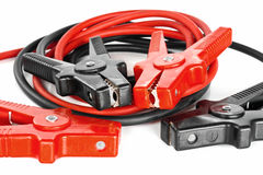 Car battery jumper cables Stock Images