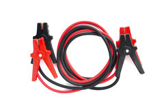 Car battery jumper cables Royalty Free Stock Images