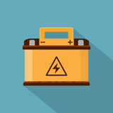 Car battery. Picture of a car battery, flat style icon Royalty Free Stock Photos