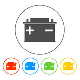 Car battery vector icon Stock Image