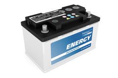 Car battery. On white background Royalty Free Stock Photography