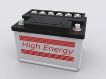 Car battery. On white background Stock Photos
