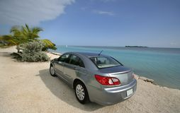 Car At The Beach Stock Photos
