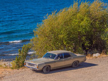 Car on beach Stock Photography