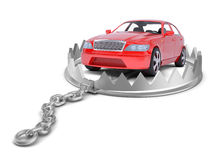 Car in bear trap Stock Images