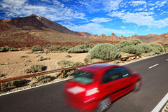 Car in beautiful landscape Stock Images