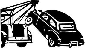 Car Being Towed Royalty Free Stock Photos