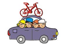 Car and bicycle Royalty Free Stock Photography