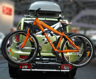 Car with the bicycles Stock Photos