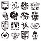 Car and biker culture badges Stock Image