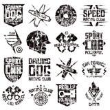 Car and biker culture badges Stock Image