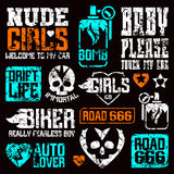 Car and biker culture badges Royalty Free Stock Photography
