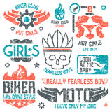 Car and biker masculine badges Royalty Free Stock Photography