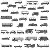 Car black icons set Royalty Free Stock Image