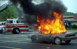 Car blazing away in Upper Marlboro, Maryland royalty free stock images
