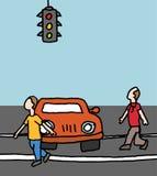 Car blocking a crosswalk Stock Photo