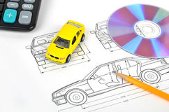 Car blueprint Royalty Free Stock Photography