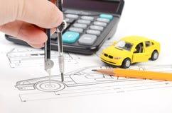 Car blueprint Royalty Free Stock Photos