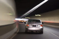 Car Blur tunnel Stock Image