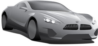 Car bmw. Vector ai 10 stock illustration
