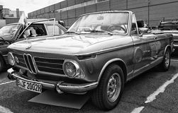Car BMW 1600 Cabriolet (black and white) Stock Photos