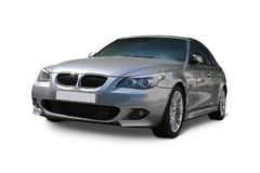 Car BMW 5 Series front view stock photo