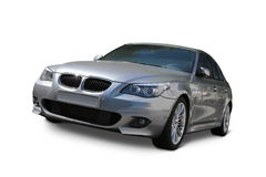 Car BMW 5 Series. Sedan Luxury car front view - includes separate clipping paths and realistic shadows Royalty Free Stock Photos