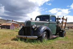 Car in Bodie. Abandonned car in Bodie ghost town, California Royalty Free Stock Photography
