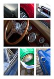 Car bodies on a collage Royalty Free Stock Photos