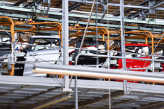 Car bodies on the production line Royalty Free Stock Photography