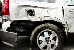 Car with body damage Royalty Free Stock Photos