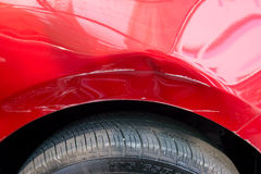Car body damage Royalty Free Stock Images