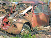 Car Body Parts Salvage Yard. Stock Image