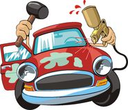 Car body repair royalty free illustration