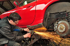 Car body repair. royalty free stock images