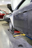 Car in a body shop Stock Photo