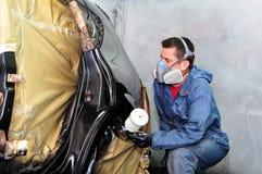 Car body shop. Stock Photo