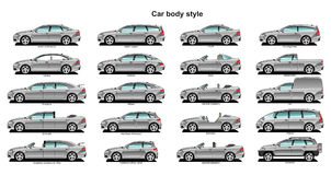 Car body style. A Vector .eps 8 illustration of  car body style Royalty Free Stock Image