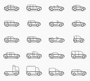 Car body types icons Stock Photo