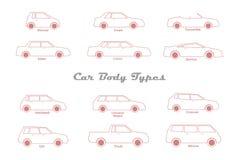 Car body types Stock Photo