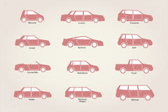 Car body types Stock Image