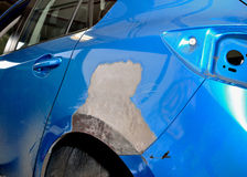 Car body work. Royalty Free Stock Images