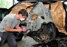 Car body work. stock photo