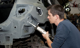 Free Car Body Work. Royalty Free Stock Photography - 26521677